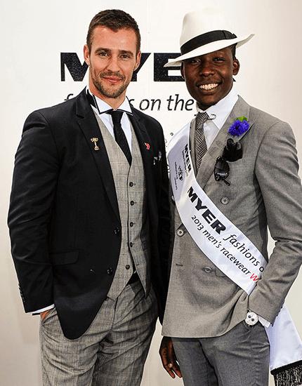 Winners of the Myer Best dressed men