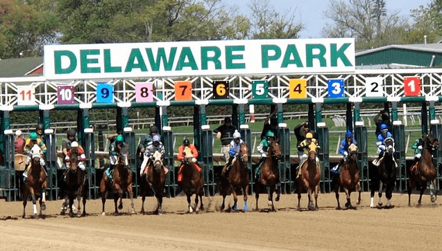 Here is a photo of the Delaware Park race track