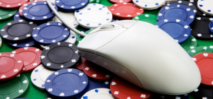 Here's a picture of a computer mouse and poker chips