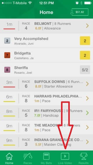 Live Horse Racing on the TVG App