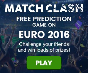 Match Clash Free prediction game on Euro 2016
