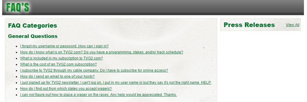 TVG promo code FAQ