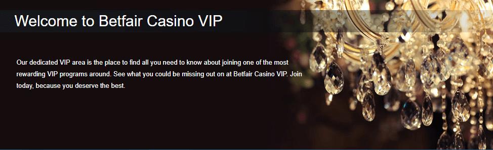 VIP Casino Betfair