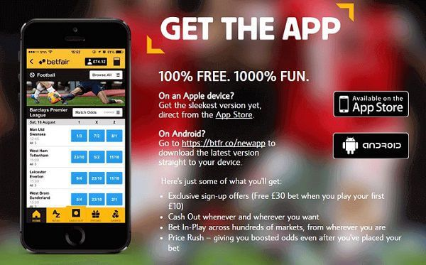 mobile application Betfair