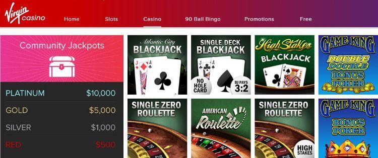 games Virgin Casino