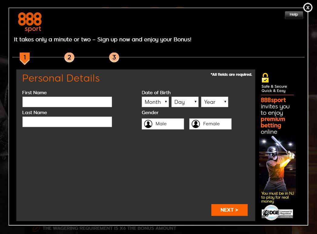 888sport registration form