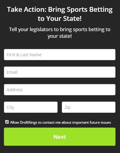 Draftkings Promo Code Legalize sports betting