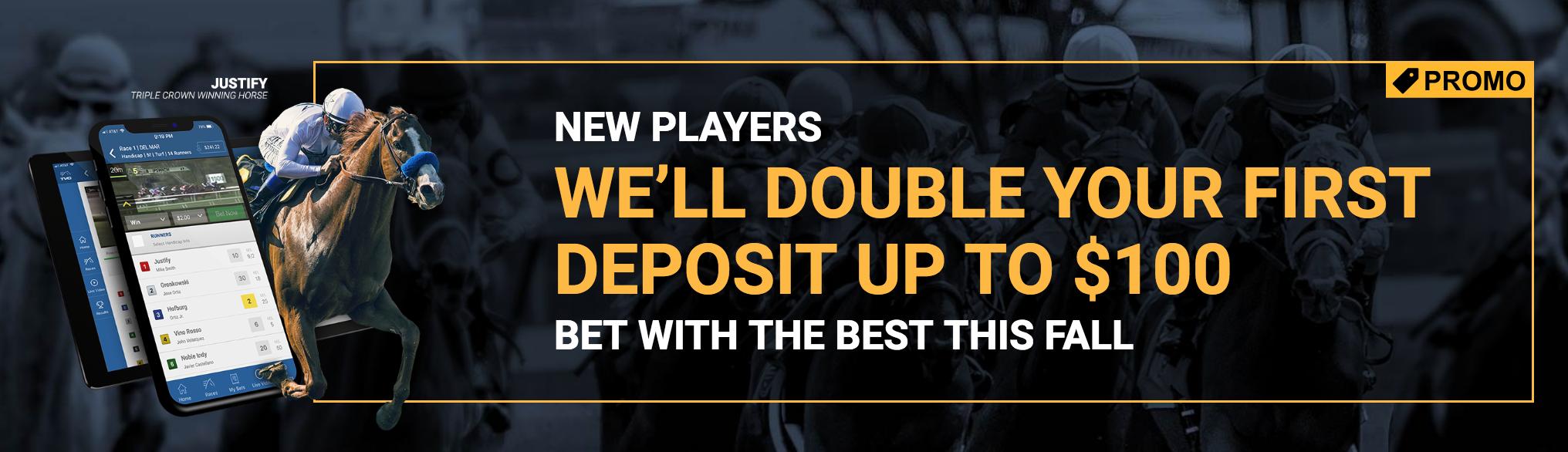 TVG promo code double your deposit