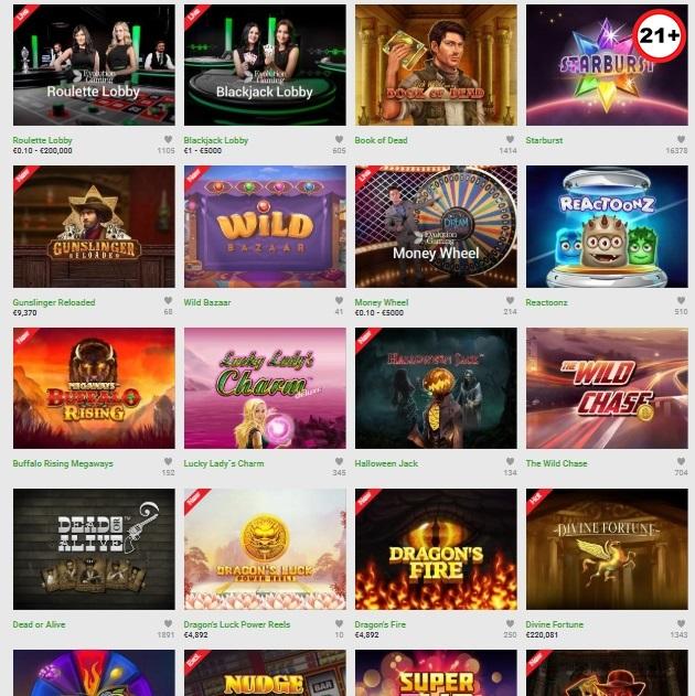 Unibet Casino Games