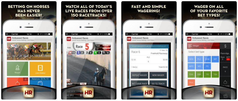 Hollywood Races app