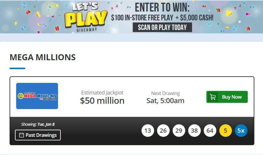 Michigan Lottery Mega Millions