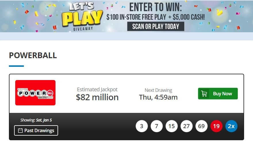Michigan Lottery Powerball