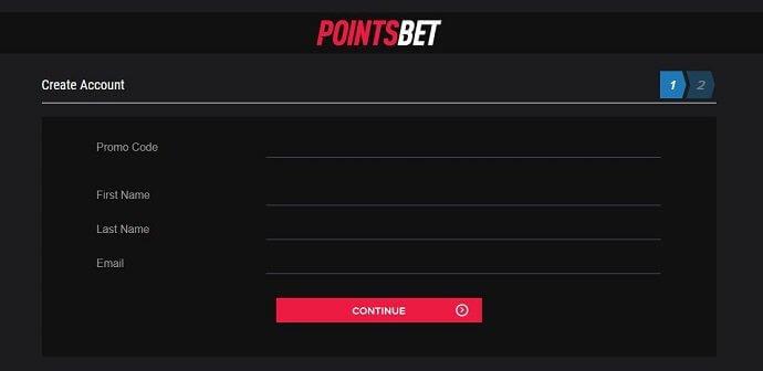 PointsBet Registration