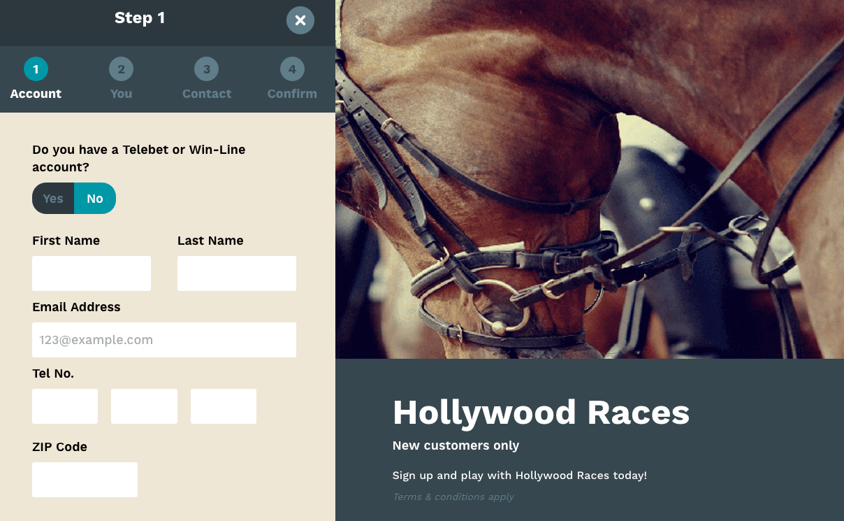 Hollywood Races registration process