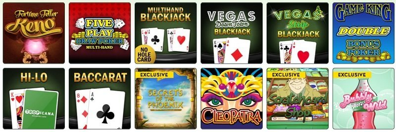 Tropicana Casino Games