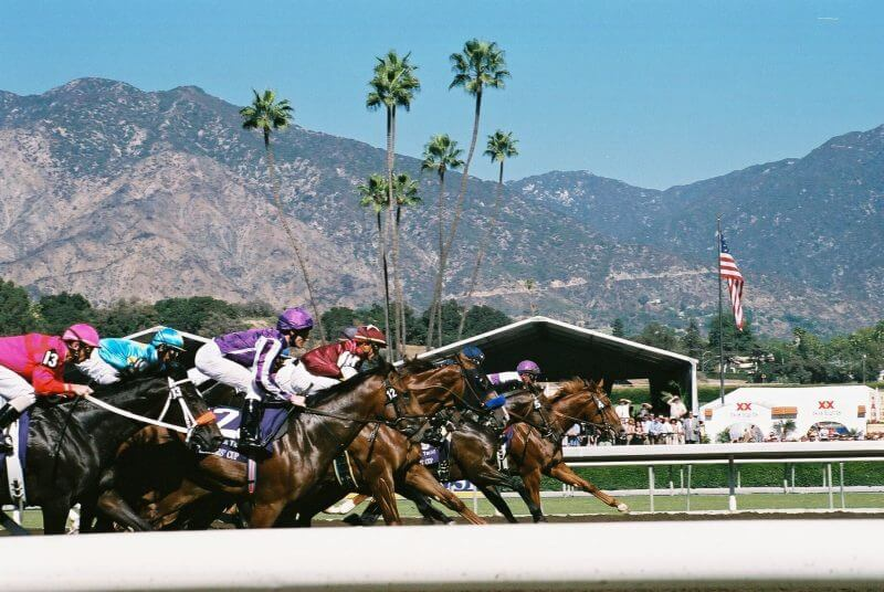 Online Horse Betting in California is available for the Breeder's Cup. Here at Santa Anita in 2008