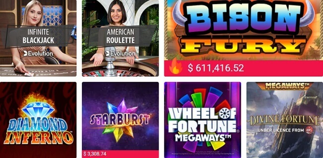PartyCasino Games Offer