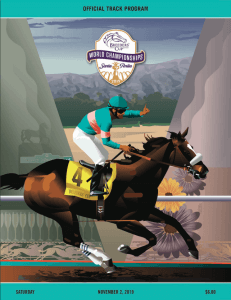 Breeders Cup Program for Saturday