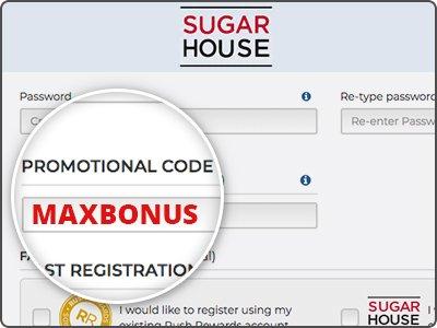 SugarHouse Bonus Code MAXBONUS