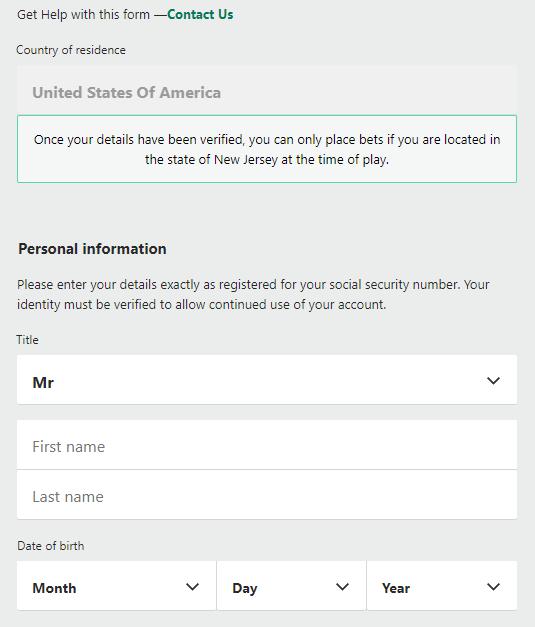 bet365 registration page
